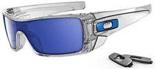 Oakley Men's Batwolf Rectangular Sunglasses,Clear Frame/Ice Iridium Lens