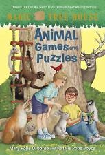 Magic Tree House: Animal Games and Puzzles by Mary Pope Osborne c2015 NEW PB