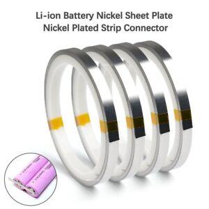 Bandes Ruban De Pur Nickel Plaqué 6mm x 0.10 X 10M Pour Soudage Batterie