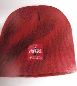 Image is loading Coca-Cola-Beanie-Hat-100-Years-Red-NEW- cb353c99bc4