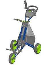 Easy Fold LIMITED EDITION Golf Push Cart, Blue / Green - Seattle Seahawks