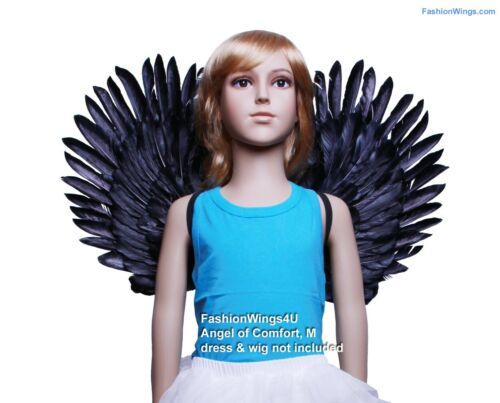 Children/'s Duo Use Costume Feather Angel Wings Pointing Up// Down Black or White