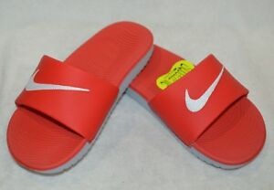 f480db72f Nike Boy s Kawa Red White Grey Slide Sandal (GS PS)-Assorted Size ...