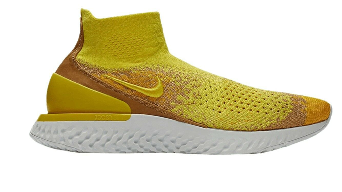 Nike Rise React Flyknit LMTD Mens Sonic Yellow Dark Stucco Sz.11.5 (BQ6176-707)