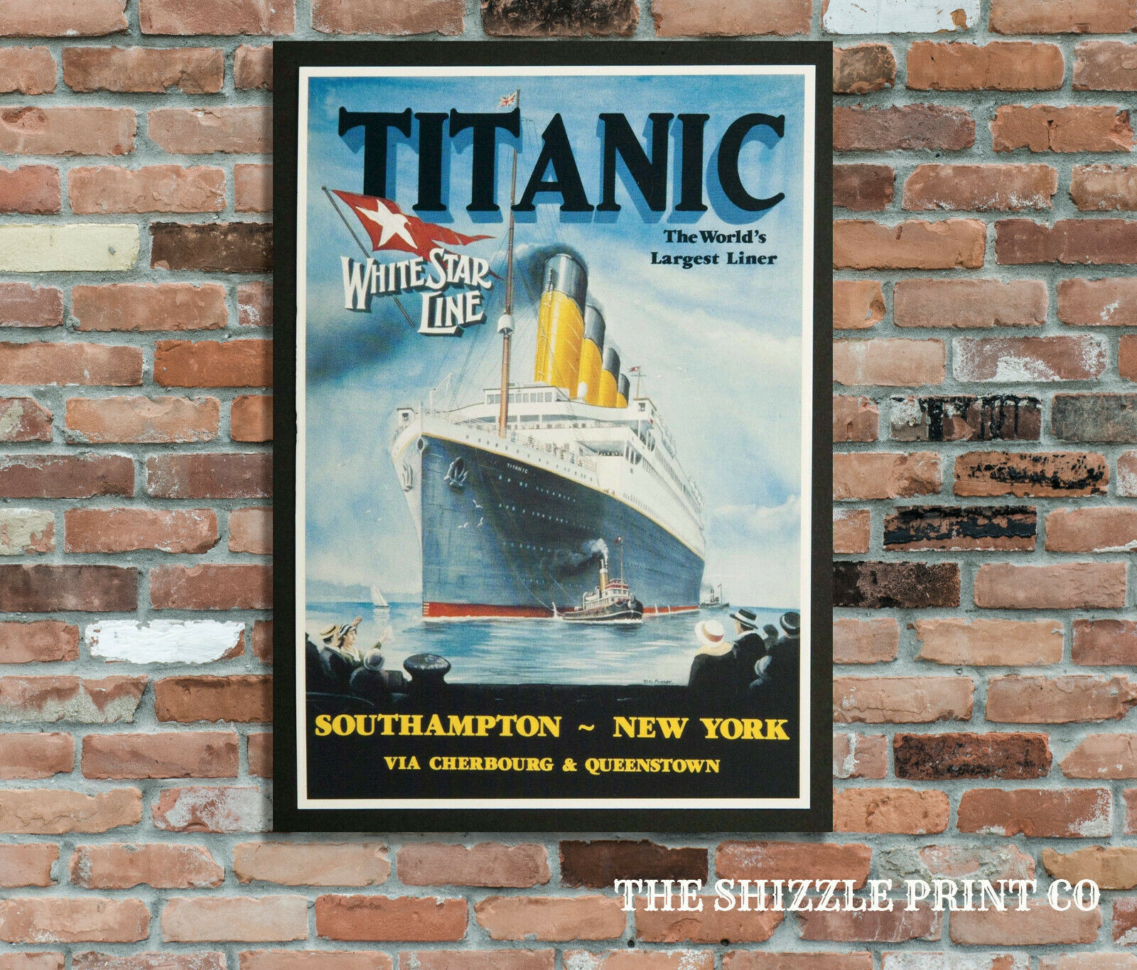 Titanic A4 Retro Vintage Metal Sign Plaque Advertising Wall Art Pic