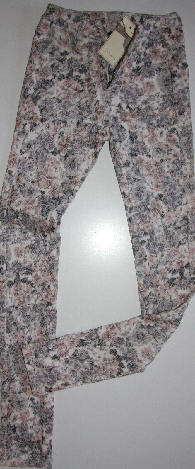 Cream DK Jeggings Hose Jeans Pants Laney  Lace Flower Pastell size 34-38  Neu