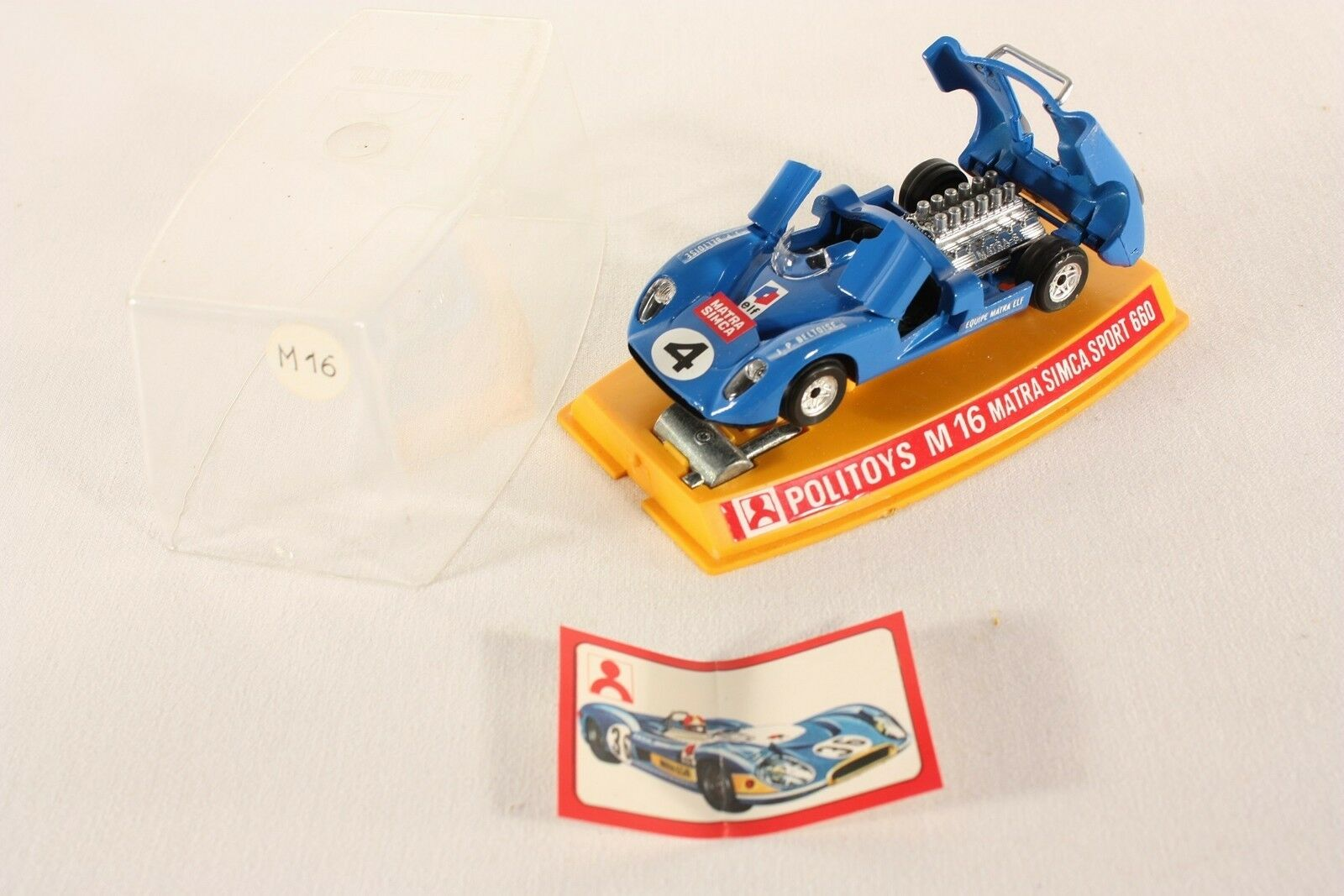 Politoys M 16, Matra Simca Sport 660, Mint in Box  ab716