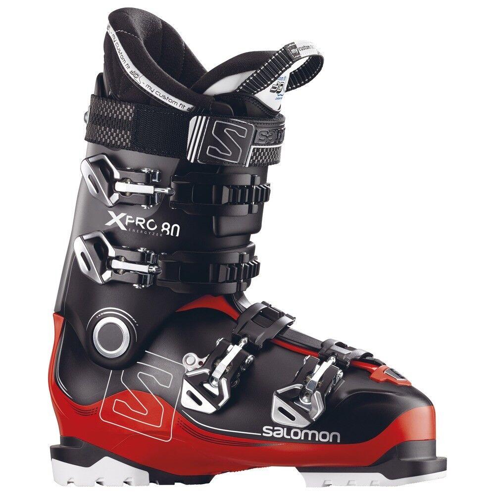 Salomon X Pro 80 Skischuh Herren 3 D Innenschuh schwarz rot NEU All Mountain S-N