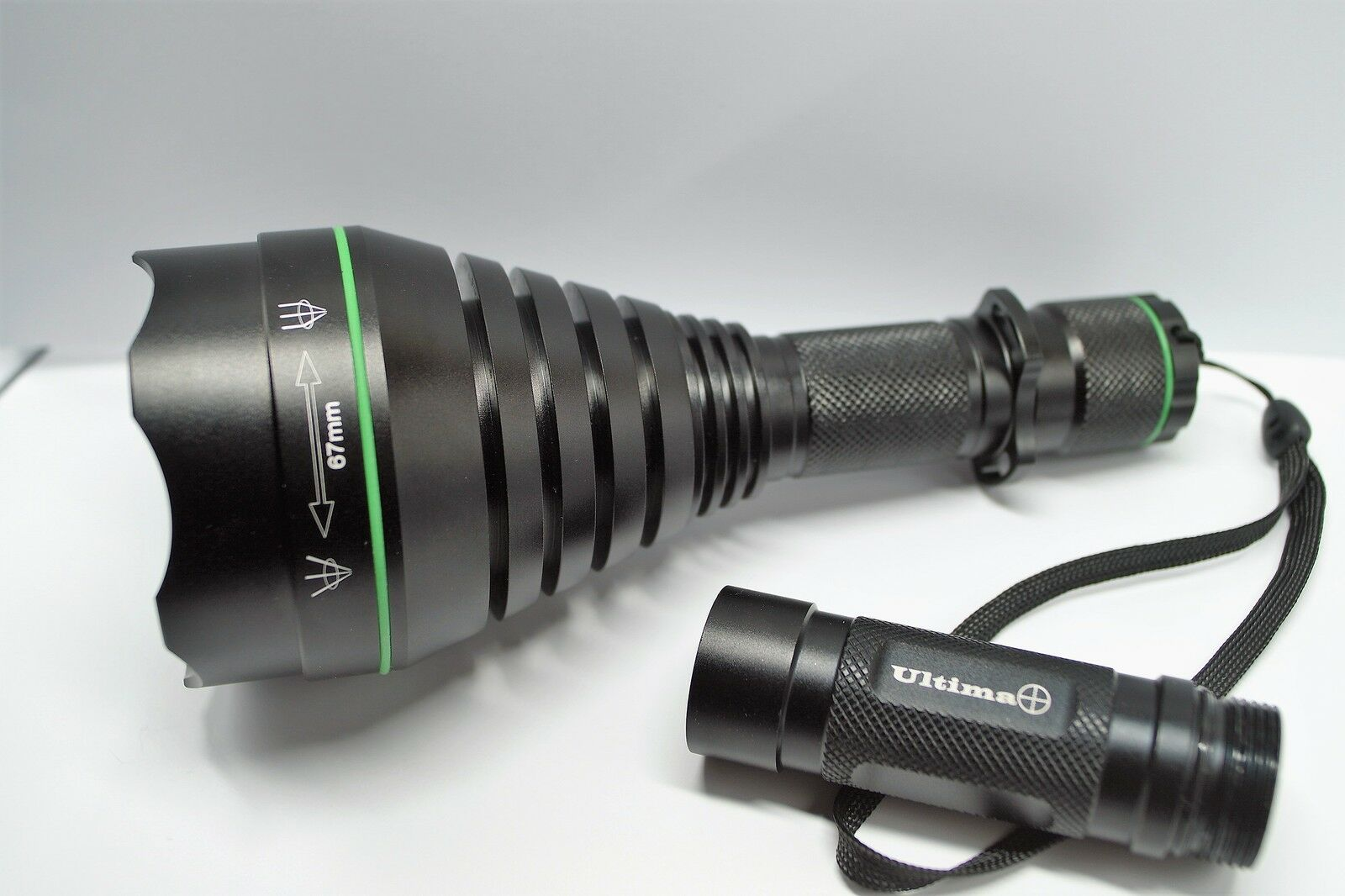 NEU T67 Mk2 Grün Hunting Night Vision Torch, wechselbare Köpfe und Pillen, Lamping