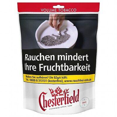6 x Chesterfield Red Volumen à 200 Gramm Zigarettentabak / Tabak