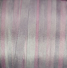 4mm Silk Ribbon 100% Pure Purple Embroidery Hand Dyed Mauve - 3mm