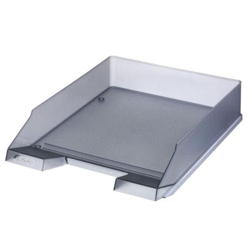 Briefablage transluzent grau Farbe 5x Herlitz Ablagekorb Briefkorb