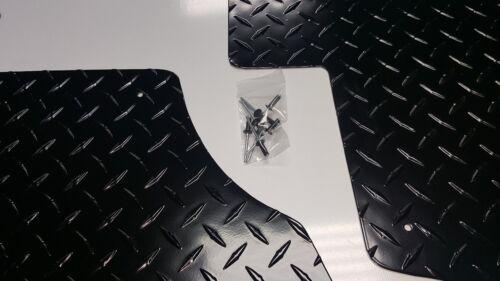 2012 thru 2018 CAN AM Commander Diamond Plate Aluminum Floor board Set BLACK
