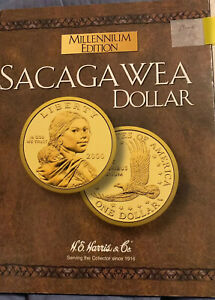 Sacagawea-Millennium-Edition-Folder-2000-P-amp-D-Album-H-E-Harris-amp-Company-Book1