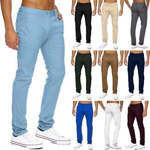 Pantalones Chinos Para Hombre De Disenador Elastizado Pantalon Todos Tamanos De Cintura Delgada Regular Fit Jeans Ebay