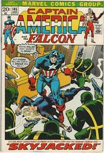 Marvel-Comics-Captain-America-Vol-One-1968-Series-145-VF-8-5