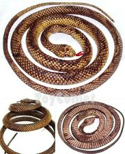 115cm Brown Fake Rubber Snake Realistic Reptile Animal Figure Joke Toy Prop