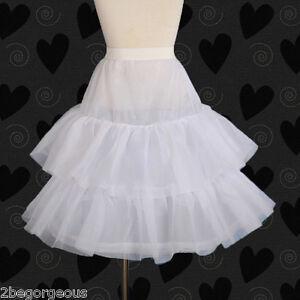fb0983ee5747 Kid 1-Hoop 2 Tiers Flower Girl Dress Crinoline Petticoat Slip ...