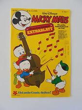 Micky Maus - Heft Nr. 14 von 1976 - Comic / Z. 1-2/2 (mit Extra-Blatt)