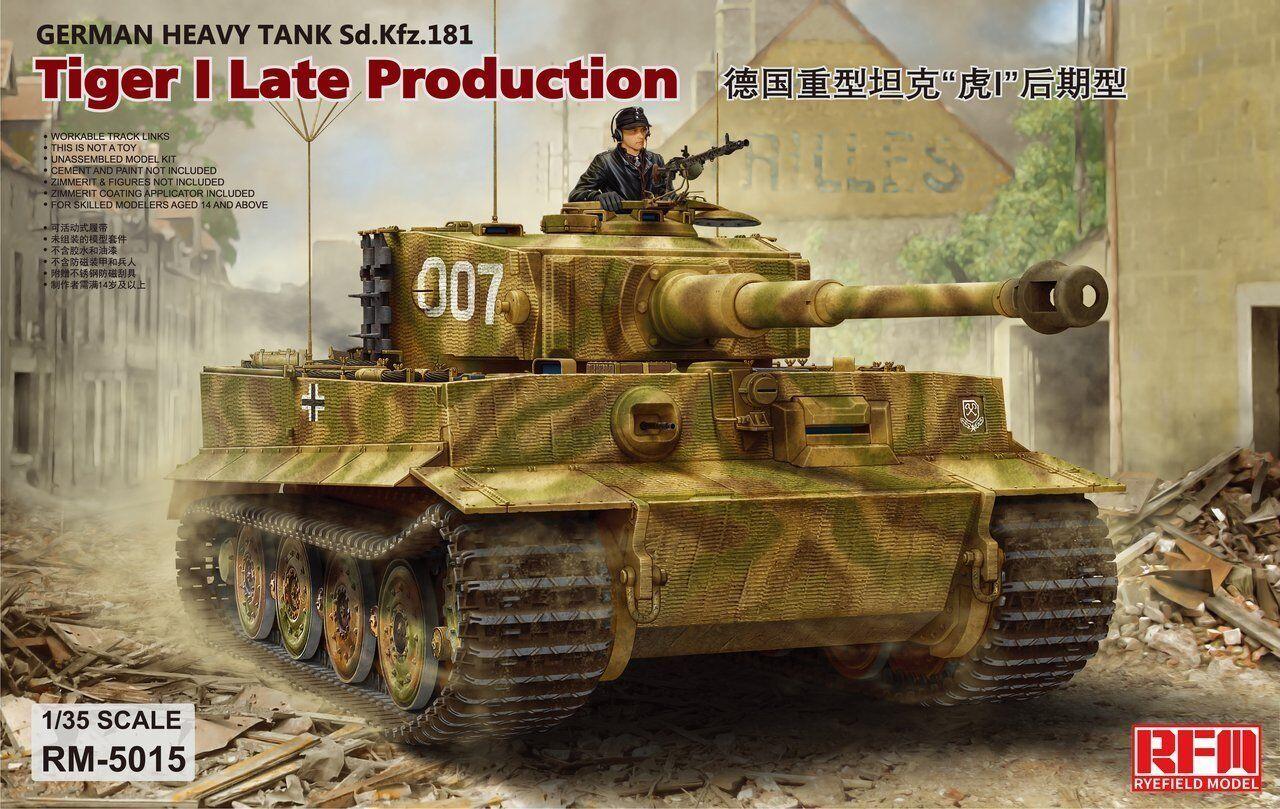 Rye Field Model 5015 1 35 Tiger I Pz.Kpfw.VI Aust.E Late Production, Sd.Kfz.181