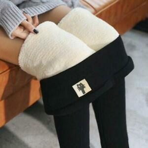 Women Winter Thick Warm Soft Fleece Lined Thermal Stretchy Leggings Pants S 5XL