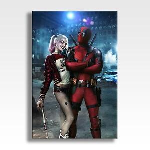 Deadpool harley quinn canvas marvel dc suicide squad - Deadpool harley quinn ...