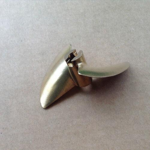 """PROPELLER 452 Bronze Prop 3//16/"""" or 4mm Shaft 2 Blade 52mm Diameter RC Boat"""