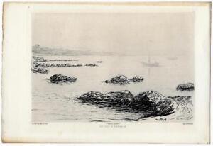 """Actif Jean Patricot """"au Cap D'antibes"""" 1901 Eau-forte Gazette Des Beaux-arts 100% De MatéRiaux De Haute Qualité"""