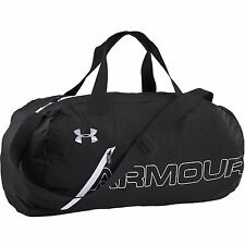 Under Armour Packable Duffel Sports Bag Black / White