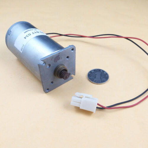 1PCS Used CROUZET DC Gear Motor With 0.4M 18T Gear 12V1700RPM 24V3600RPM