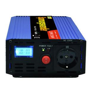 1200w 2500w power inverter 12v 230v invertitore con lcd. Black Bedroom Furniture Sets. Home Design Ideas
