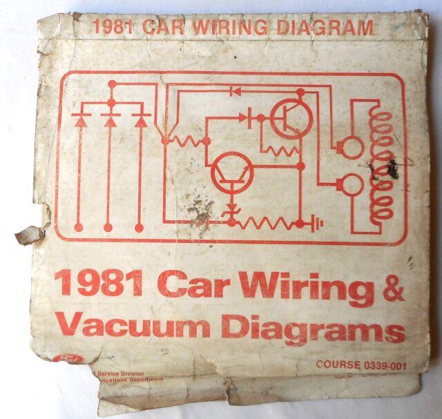1981 Ford Lincoln Mercury Wiring Diagrams Manual All Models Original
