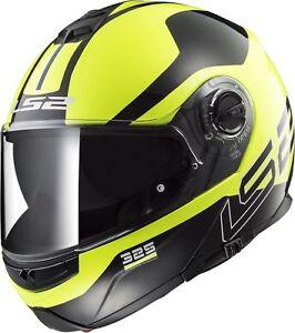 LS2-FF325-ZONE-jaune-Noir-Integral-Avant-basculable-casque-moto
