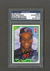Frank-Thomas-signed-White-Sox-1990-Score-Rookie-baseball-card-Psa-Dna
