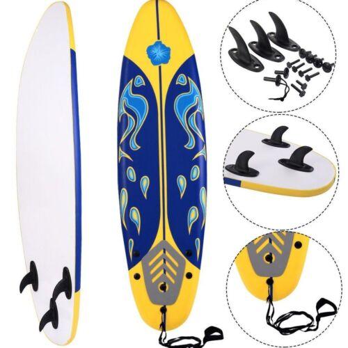 6 Ft Surfboard Beach Body Surfing Longboard Fun Playing Waves Beginners Kids Yel