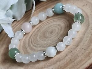 Fertility,Crystal energy gemstone bracelets, Rose Quartz, PCOS, Hormone system