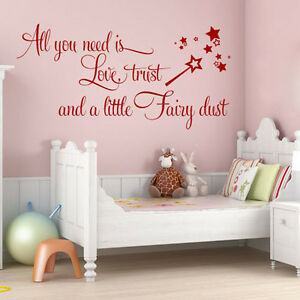 Image Is Loading LOVE TRUST FAIRY DUST BABY GIRLS TEEN BEDROOM  Part 63