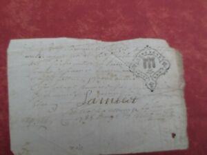 En Herbe Très Ancienne Lettre Daté De Mai 1735 Rare (cachet D'auvergne ) Apparence Attractive