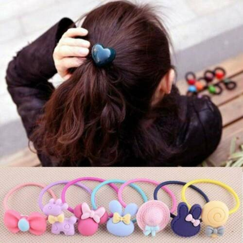 10x Baby Kids Hair Accessories Girls Elastic Hair Band Ties Rope Ponytail Holder