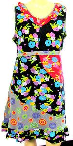 extravagante vestido gris multicolor multicolor negro mujer mangas maxi sin Nuevo rojo OSnZ1SB