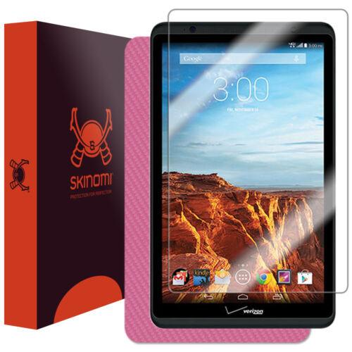 Skinomi Pink Carbon Fiber Skin /& Screen Protector for Verizon Ellipsis 8