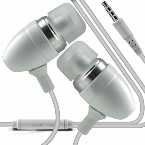 3.5mm Earbud Handsfree Earphones With Mic /& On//Off For New Tesco Hudl 2 2014