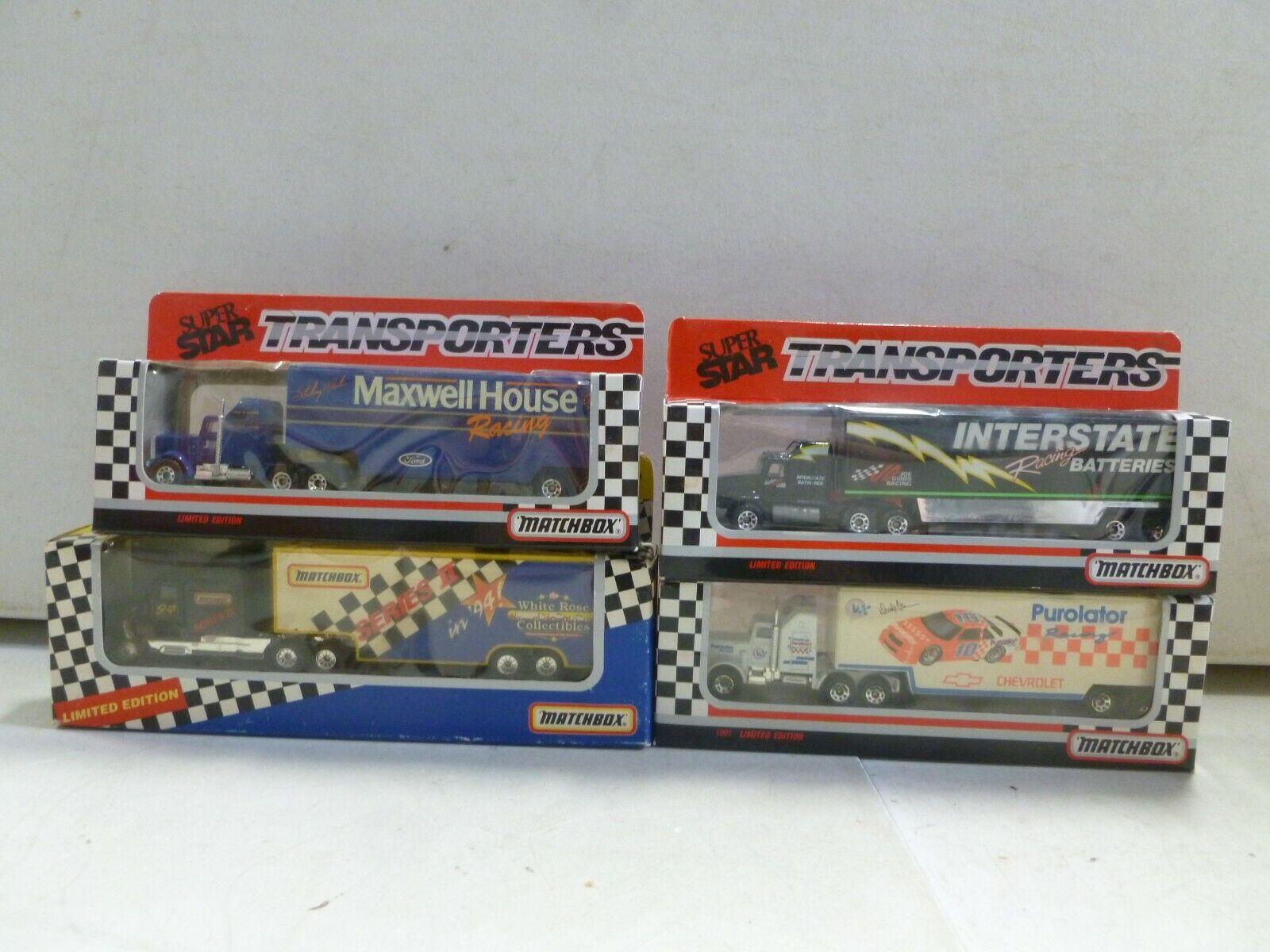 Lot Lot Lot of 4 Matchbox Nascar Transporters 3 6 (3) 93c68d