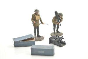 Britains 23108 1917-18 U.s. Morter Crew Avec French Crapouillot