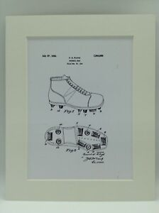 06cc300db91aa Details about Vintage Patent Print Drawing Football Boots Display 1926  SOCCER 10 X 8