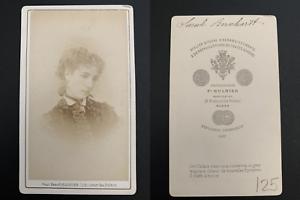 Mulnier-Paris-Sarah-Bernhardt-Vintage-carte-de-visite-CDV-Tirage-albumi