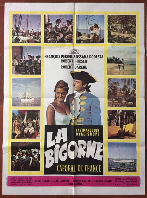 Affiche LA BIGORNE CAPORAL DE FRANCE François Périer ROSSANA PODESTA 60x80cm *