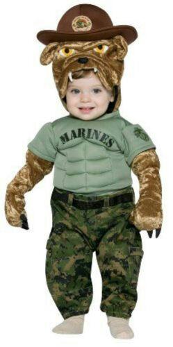 Military Mascot Marine Chesty Toddler Costume 2-4T