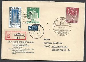 Berlin-1950-mixed-franked-R-cover-to-Wolfenbuttel