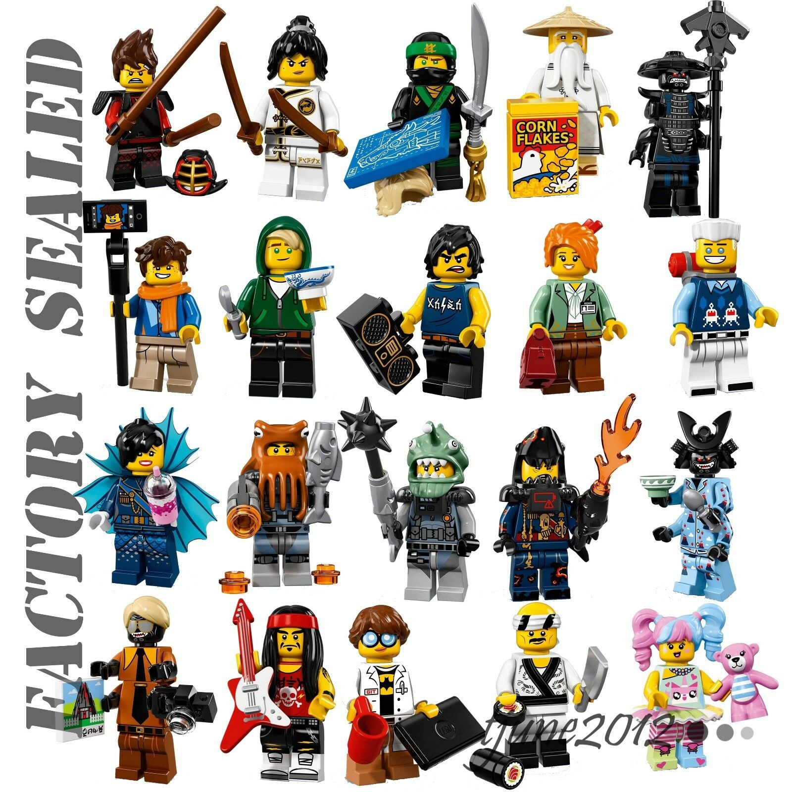 LEGO Ninjago Movie COMPLETE SET OF 20  MINIFIGURES FACTORY SEALED 71019 UNOPENED